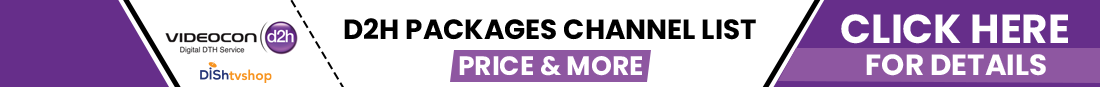 videocon d2h recharge packages plan